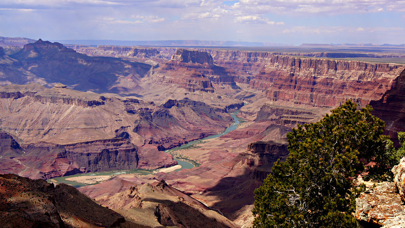 The Colorado River viewed from the eastern end of the Grand Canyon, Arizona.