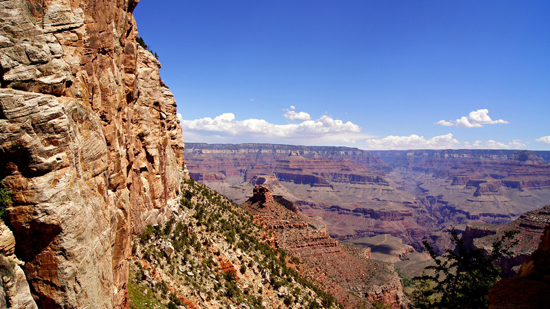 Below the upper cliffs on the south rim of the Grand Canyon, Arizona.