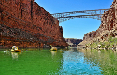 Navojo Bridge at Marble Canyon.  Mile 4.