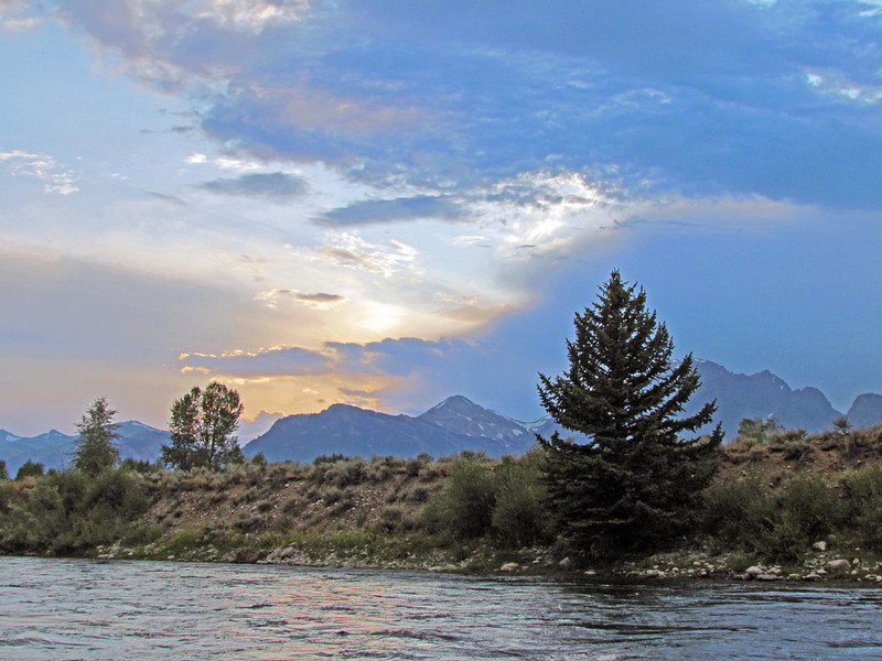 The Tetons from the river.
