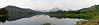 A hazy panoramic of Oxbow Bend