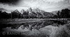 The Grand Tetons from Schubacher's Cove  B/W.<br /> Wet Rocks adjustment