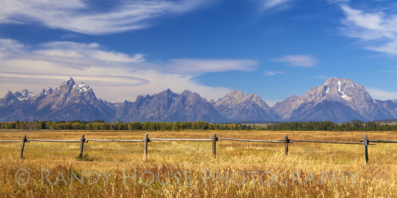 Spectacular view of Tetons