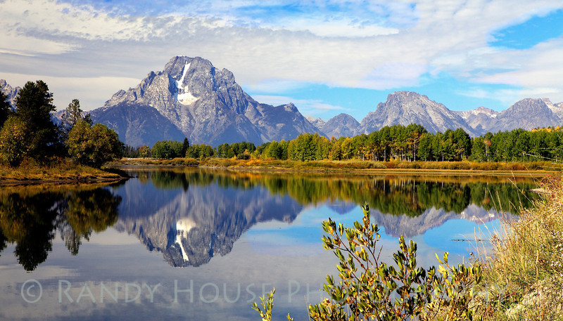 Mt. Moran from Oxbow Bend, Grand Tetons Nat'l Park