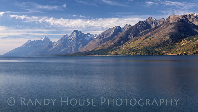 Grand Tetons from north side of the park looking across Jackson Lake.