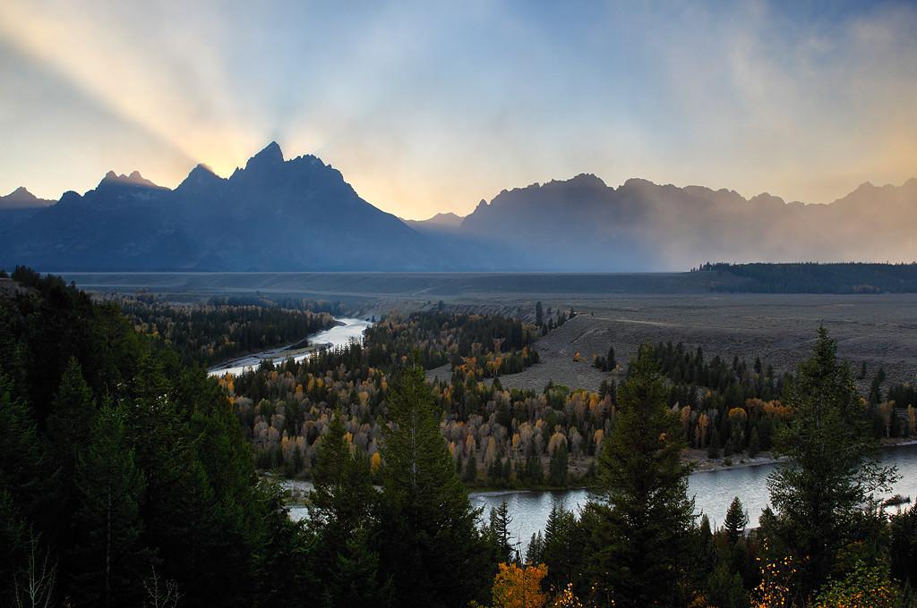 Bearpaw Rays - Snake River Overlook (Grand Teton National Park)