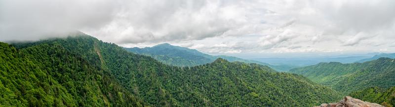Charlie's Bunion - Great Smokey Mountains National Park - TN - Panorama