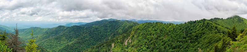 The Real Charlie's Bunion - Great Smokey Mountains National Park - TN - Panorama