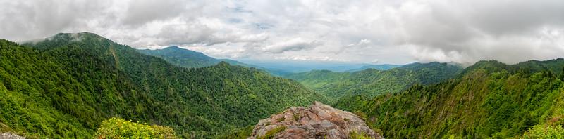 Charlie's Bunion - Great Smokey Mountains National Park - TN - Panorama-2