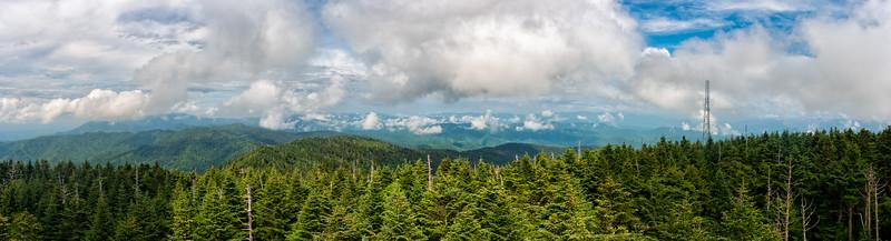 Clingman's Dome - Great Smokey Mountains National Park - TN - Panorama