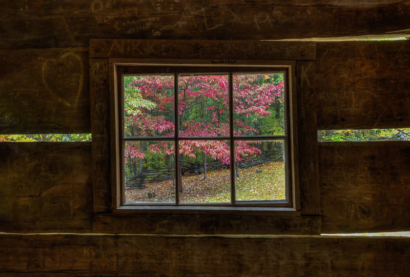 View From A Smoky Mountain Window