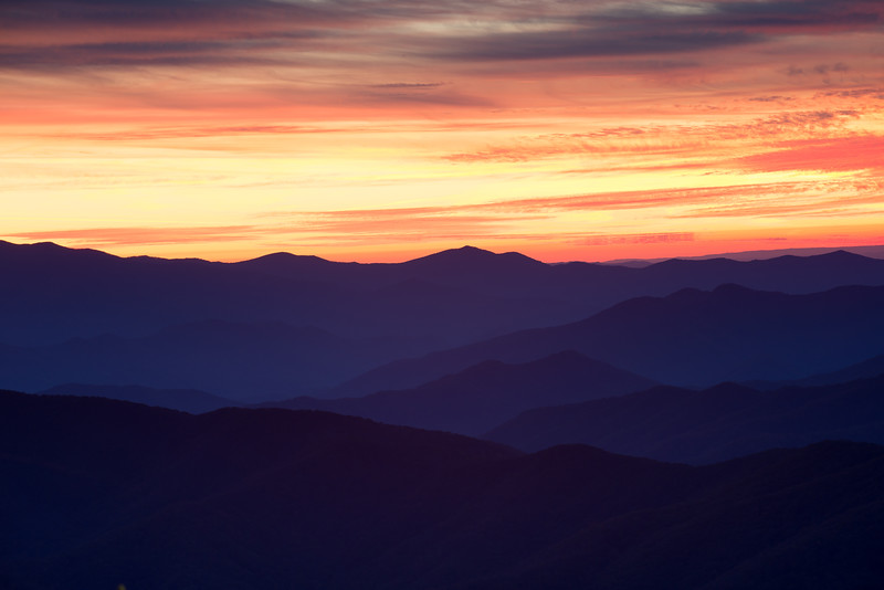 Mountain Ridges at Dusk from Clingman's Dome