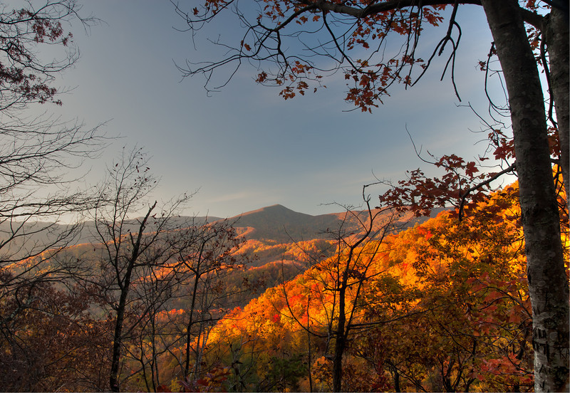 Fall View of the Smoky Mountains from Laurel Fall Trail