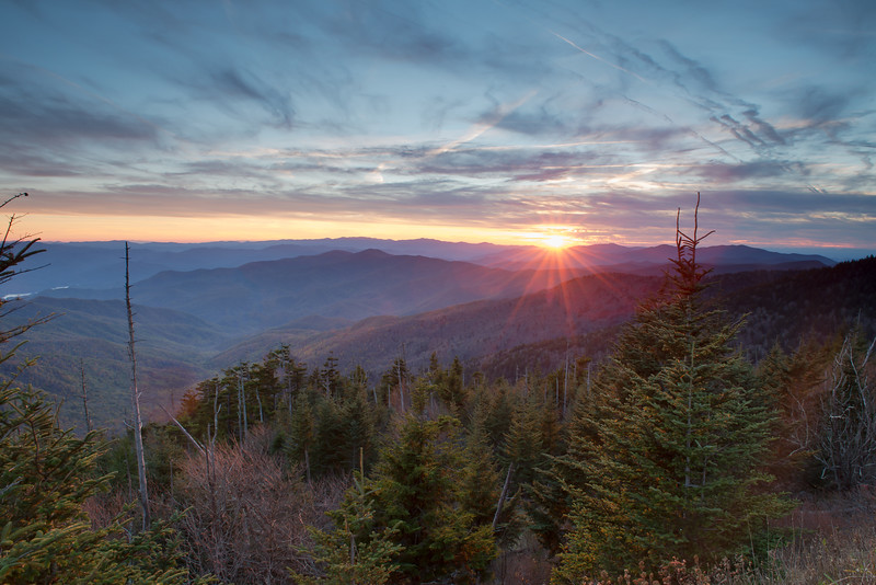 Sunrays at Clingman's Dome