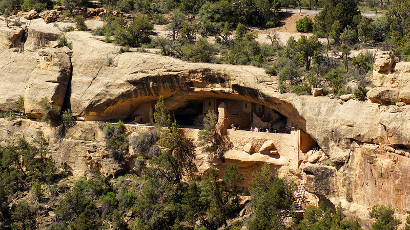 The Balcony House, viewed from across the canyon, Mesa Verde National Park, Colorado