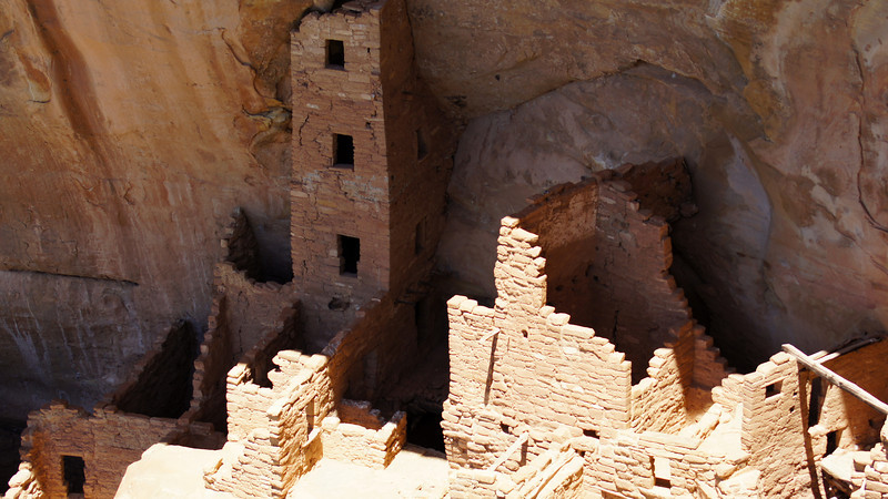 Overhead view of the Square Tower House, Mesa Verde National Park, Colorado