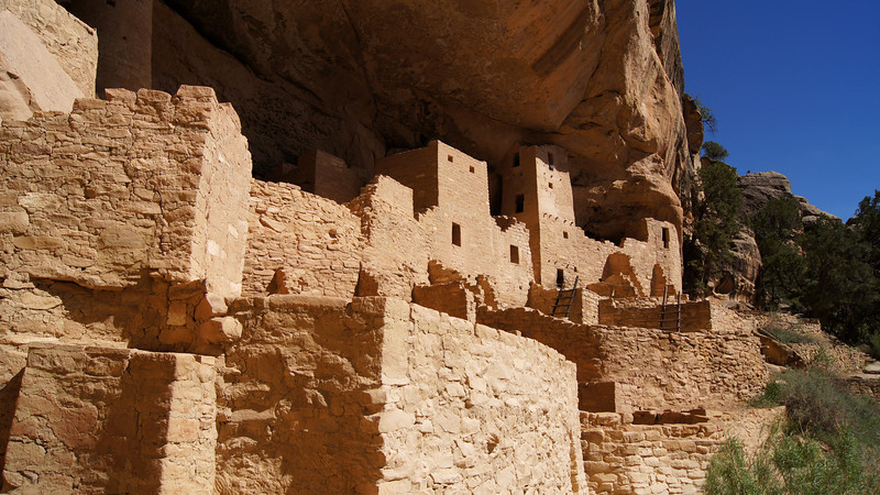 Entering the Cliff Palace, Mesa Verde National Park, Colorado.