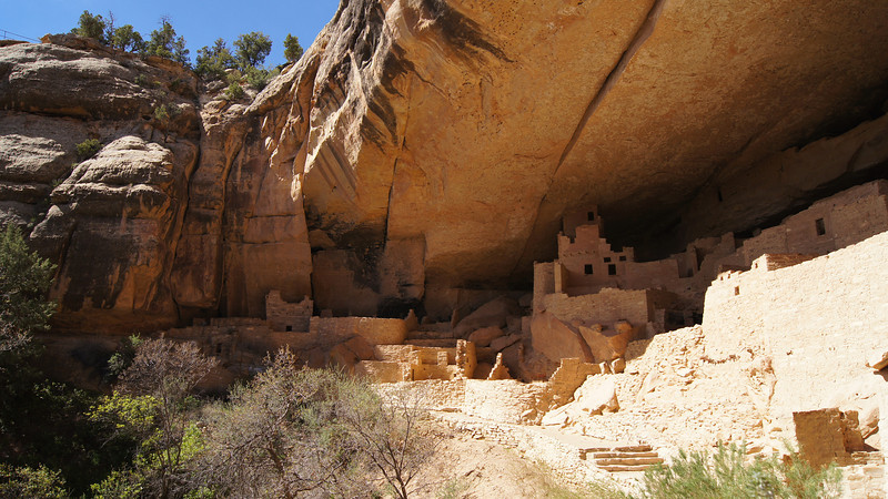 View of the Cliff Palace's north end; Mesa Verde National Park, Colorado.