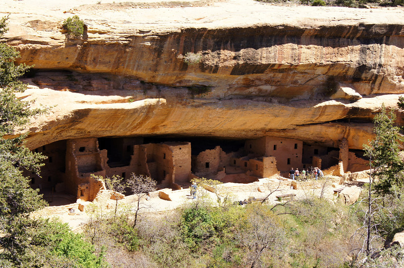 Bright afternoon sunlight on the Spruce Tree House, Mesa Verde National Park, Colorado