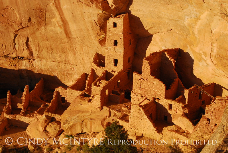 Square Tower House, last light, Mesa Verde NP (1)