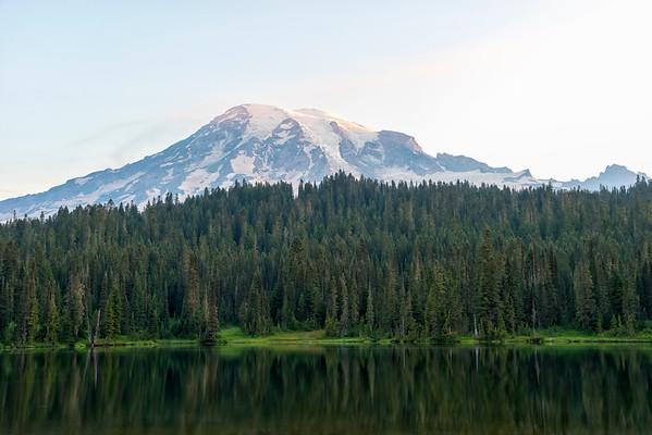 Reflection Lakes Sunrise - Mount Rainier-2