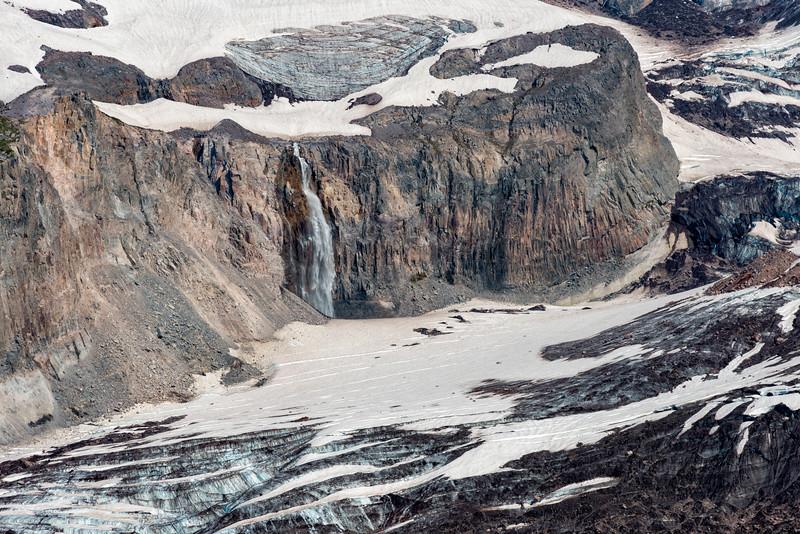 Nisqually Glacier and Waterfall - Mount Rainier-3