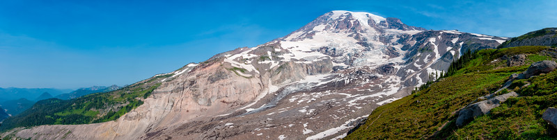 Nisqually Glacier Panorama - Mount Rainier