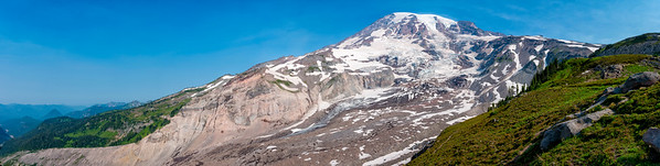 Nisqually Glacier Panorama - Mount Rainier