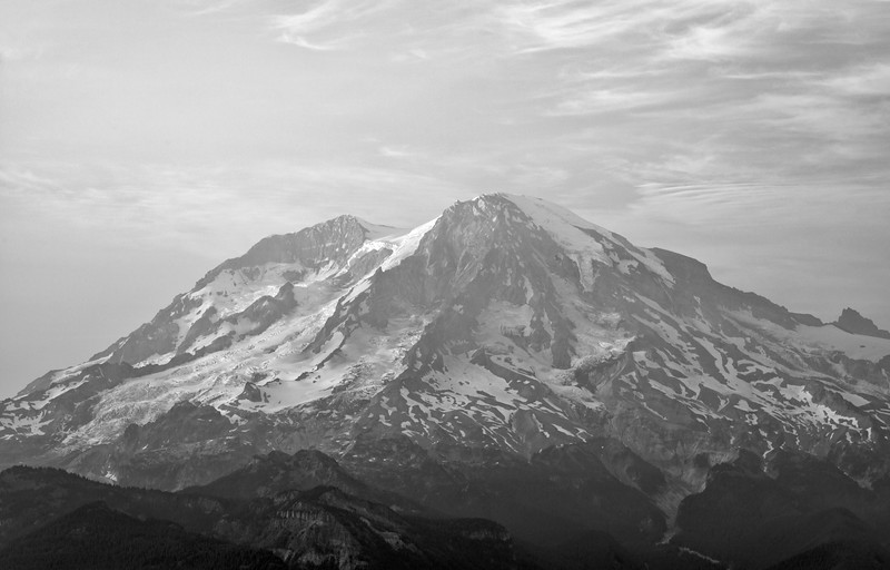 High Rock Lookout BlackandWhite - Mount Rainier