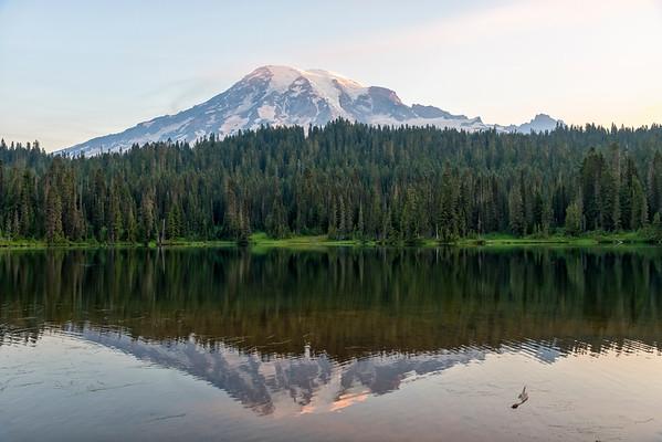 Reflection Lakes Sunrise - Mount Rainier