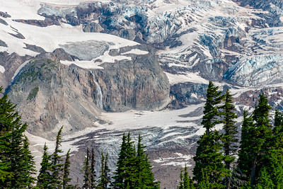 Nisqually Glacier and Waterfall - Mount Rainier