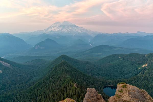 High Rock Lookout Sunset - Mount Rainier-2