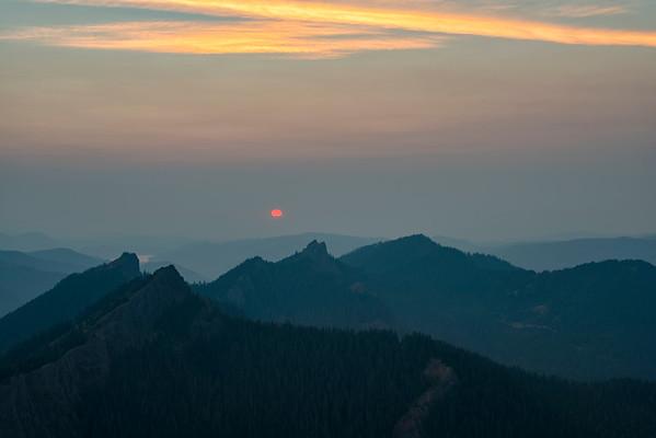 High Rock Lookout Sunset - Mount Rainier