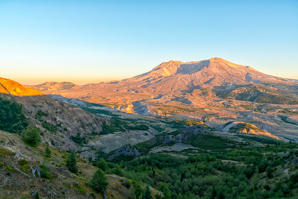 Mount St  Helens Sunset - Mount St  Helens-3