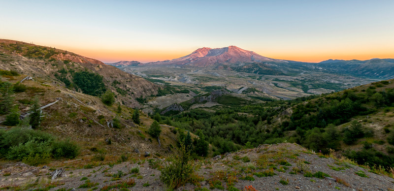 Mount St  Helens Sunset Fish Eye - Mount St  Helens