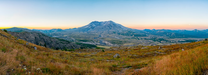 Mount St  Helens Sunrise Panorama - Mount St  Helens