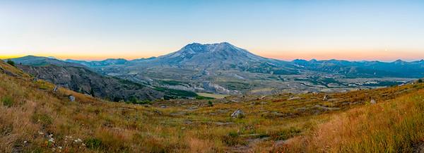 Mount St  Helens Sunrise Panorama - Mount St  Helens