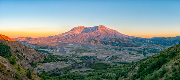 Mount St  Helens Sunset Panorama - Mount St  Helens-2