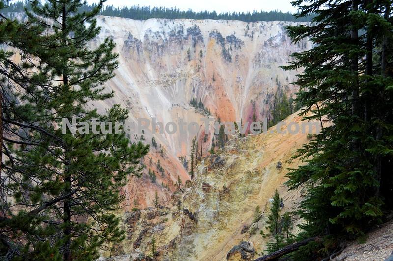 Yellowstone Grand Canyon, Lower Falls. Artists Point, Side Shot