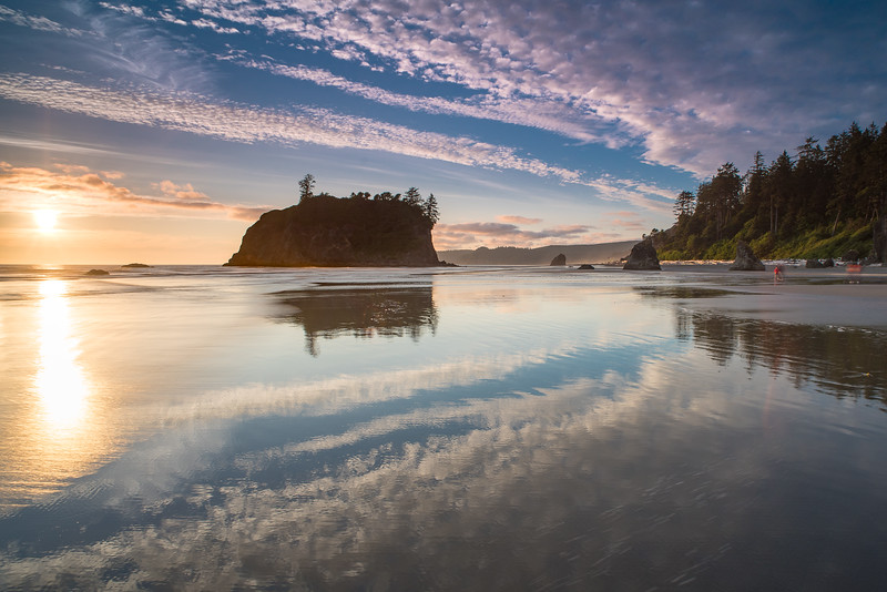Reflected Ruby Beach Sunset
