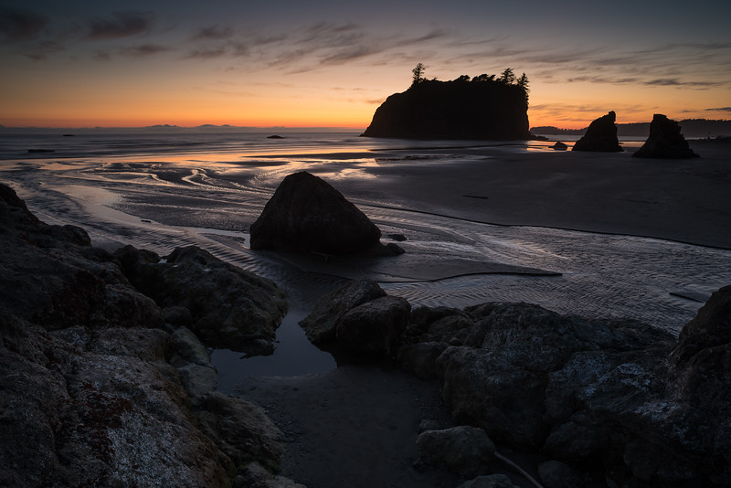 Dusk at Ruby Beach