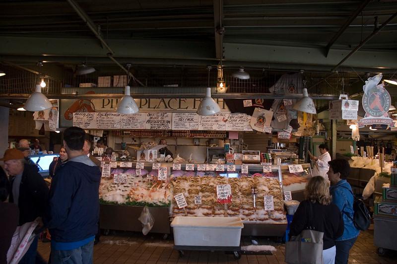 Pike Place Fish Market, Seattle, Washington, October 2009