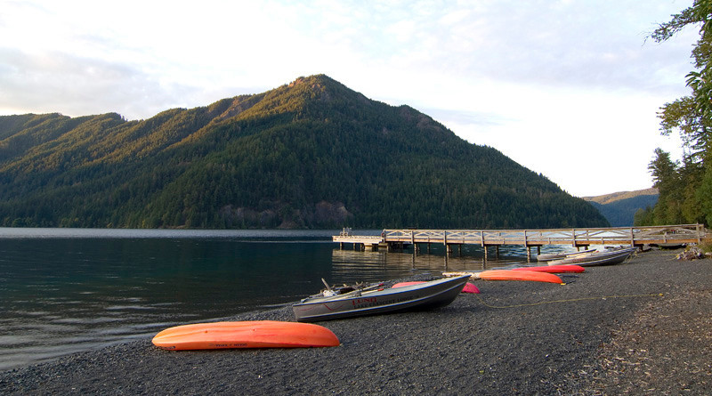 Lake Crescent, in front of Lake Crescent Lodge. Olympic National Park. October 2009