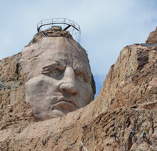 ( Detail of ) Crazy Horse National Monument--South Dakota