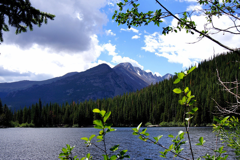 Bear Lake and the west slopes of Longs Peak; Rocky Mountain National Park, Colorado.
