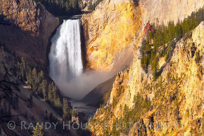 The Lower Yellowstone Falls from Artist Point. See the people just above the falls.
