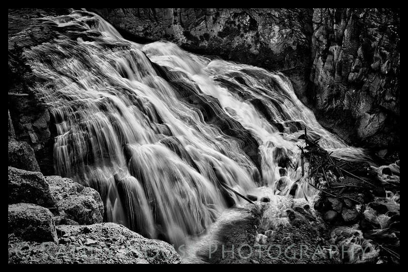 Gibbon Falls B/W