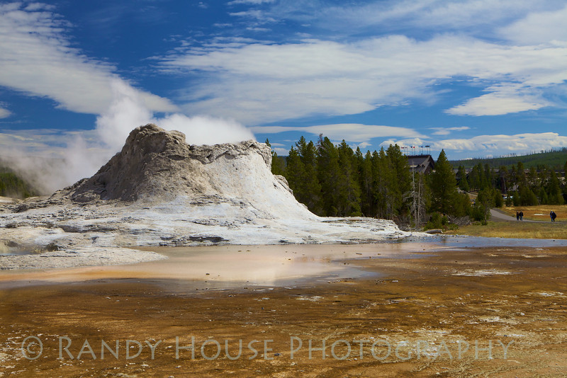 Castle Geyser near Old Faithful