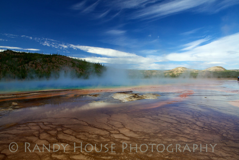 Right half of Grand Prismatic Spring from eye level.
