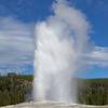 Old Faithful errupting.